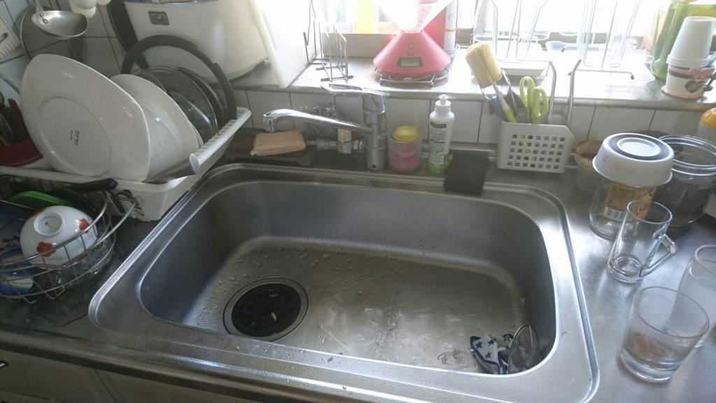 札幌市北区にてキッチンの排水つまり修理で緊急出動