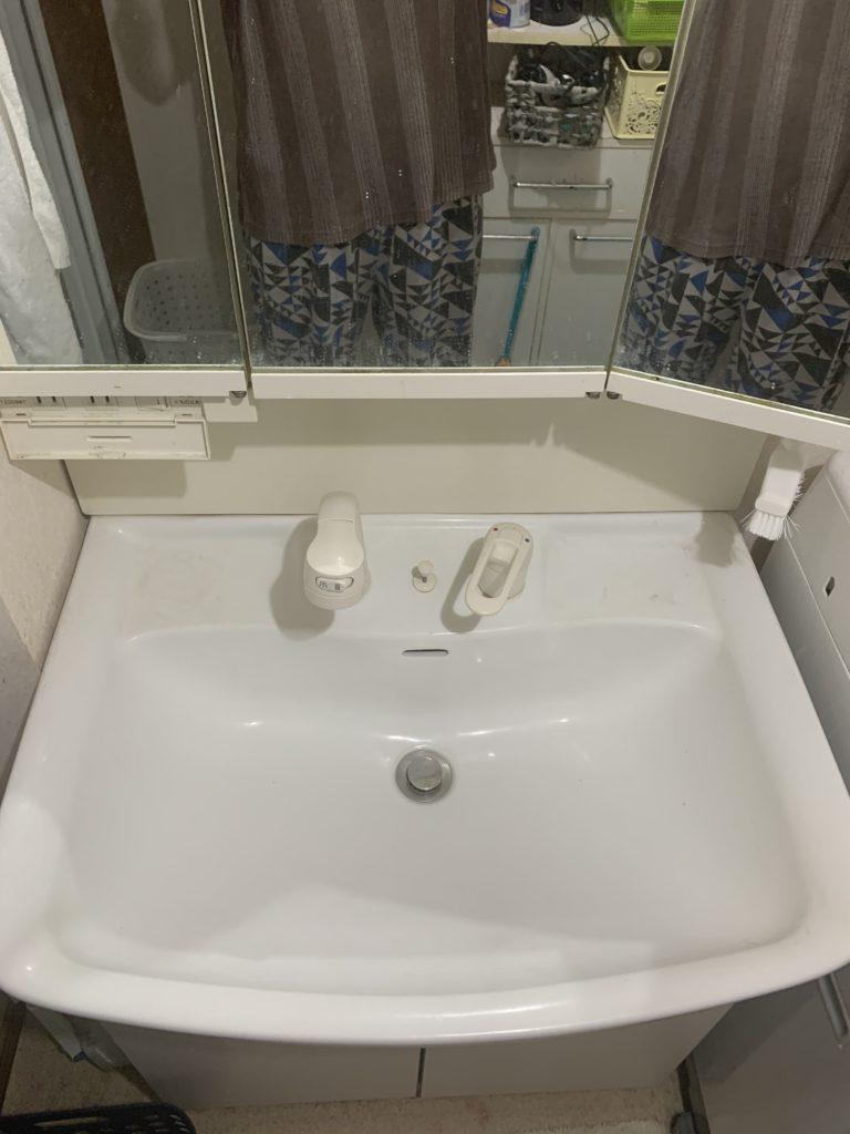 岩見沢市で洗面蛇口の水漏れ修理事例