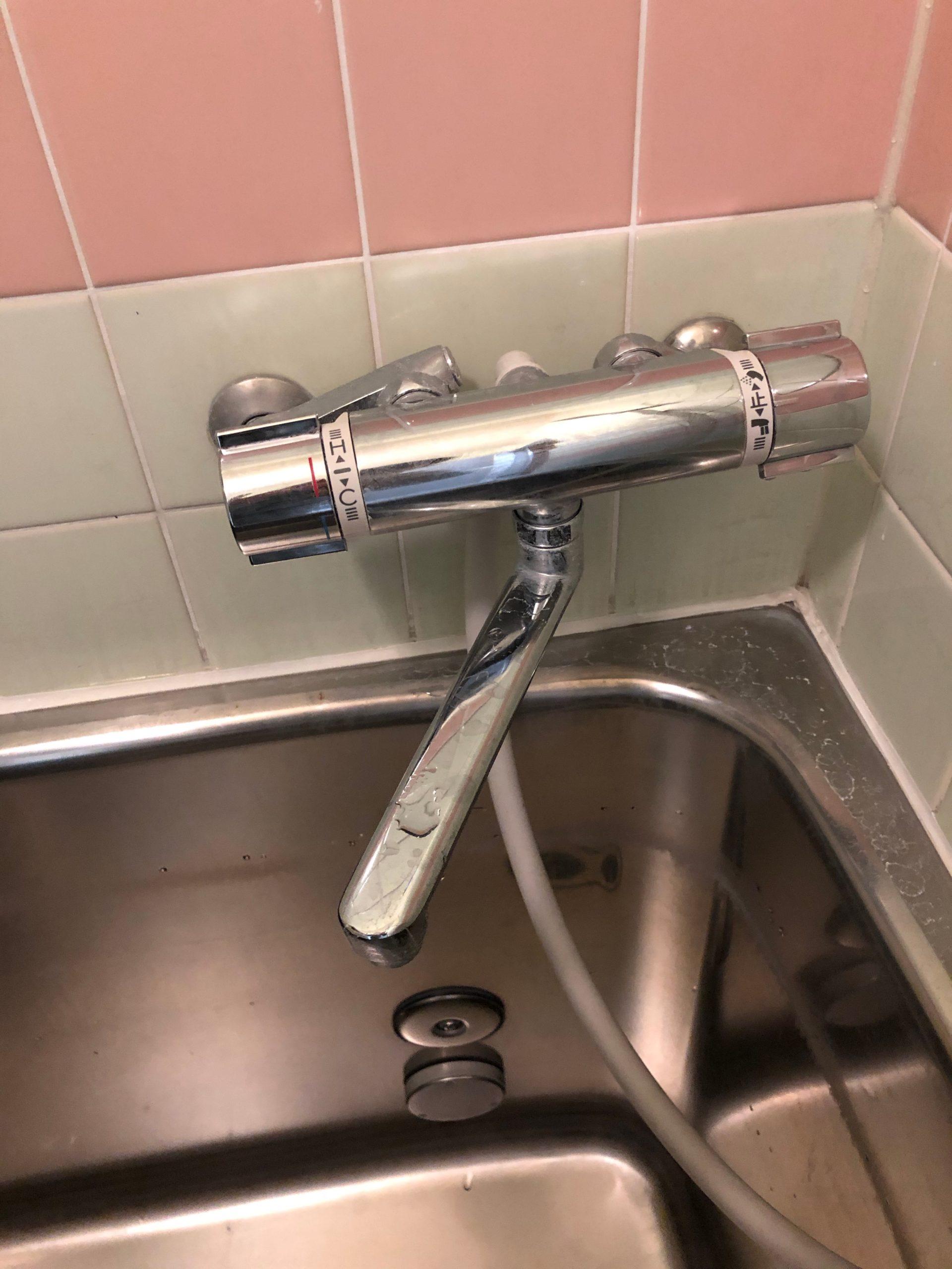 浴室蛇口水漏れ
