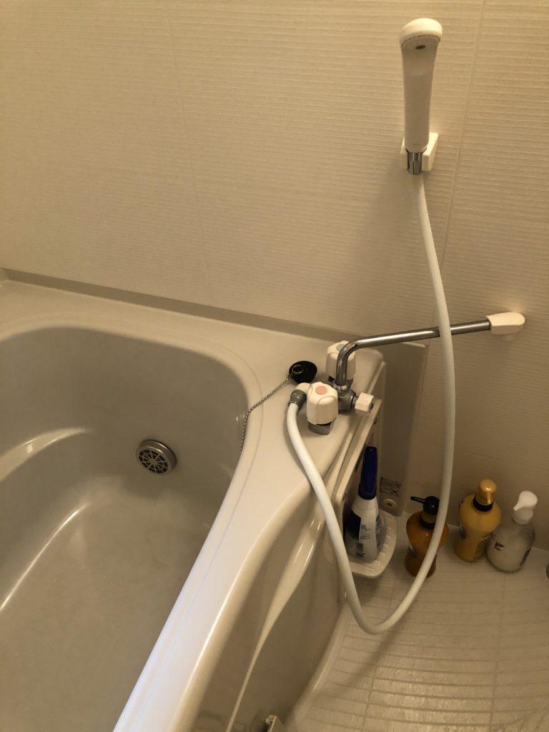 紋別市でシャワーヘッド水漏れによる交換作業