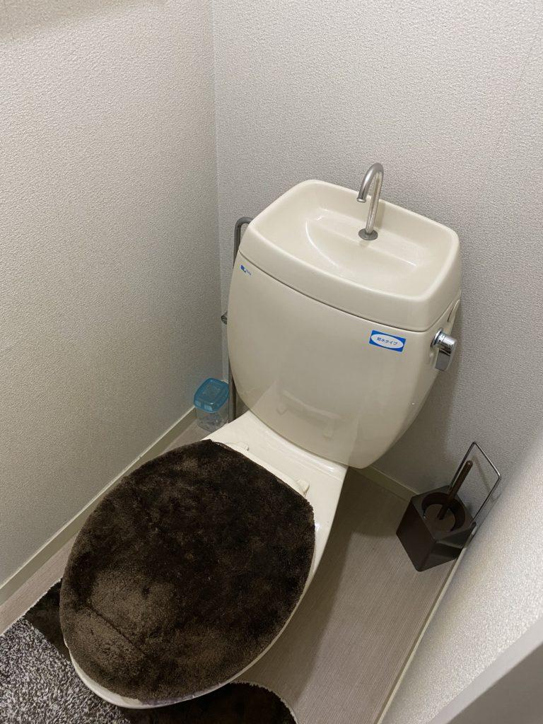 札幌市東区でトイレの水漏れ修理を行いました。