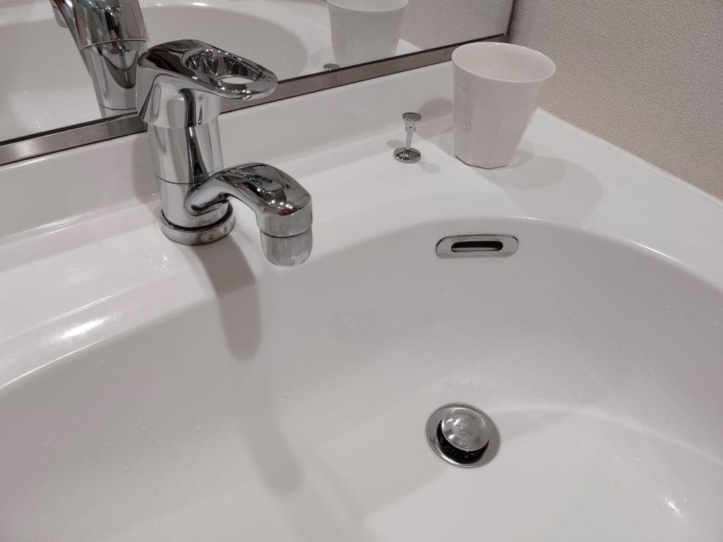 札幌市南区で洗面所の混合水栓から水漏れしているのを解決しました。