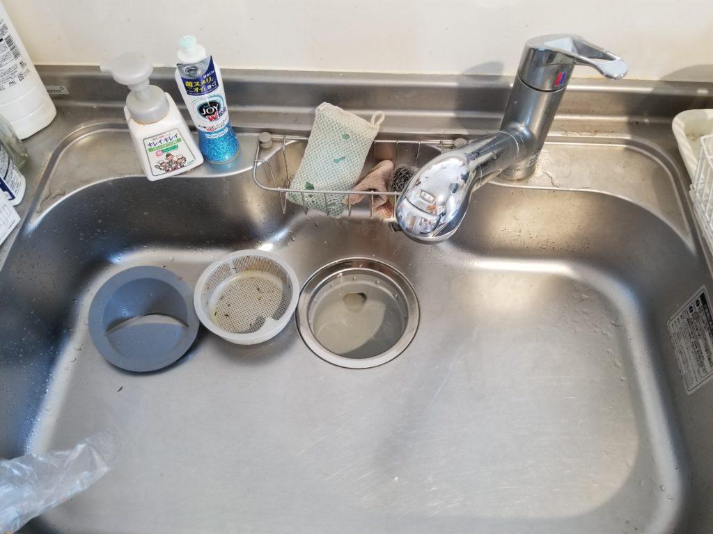網走郡大空町で台所蛇口水漏れ修理を行いました。