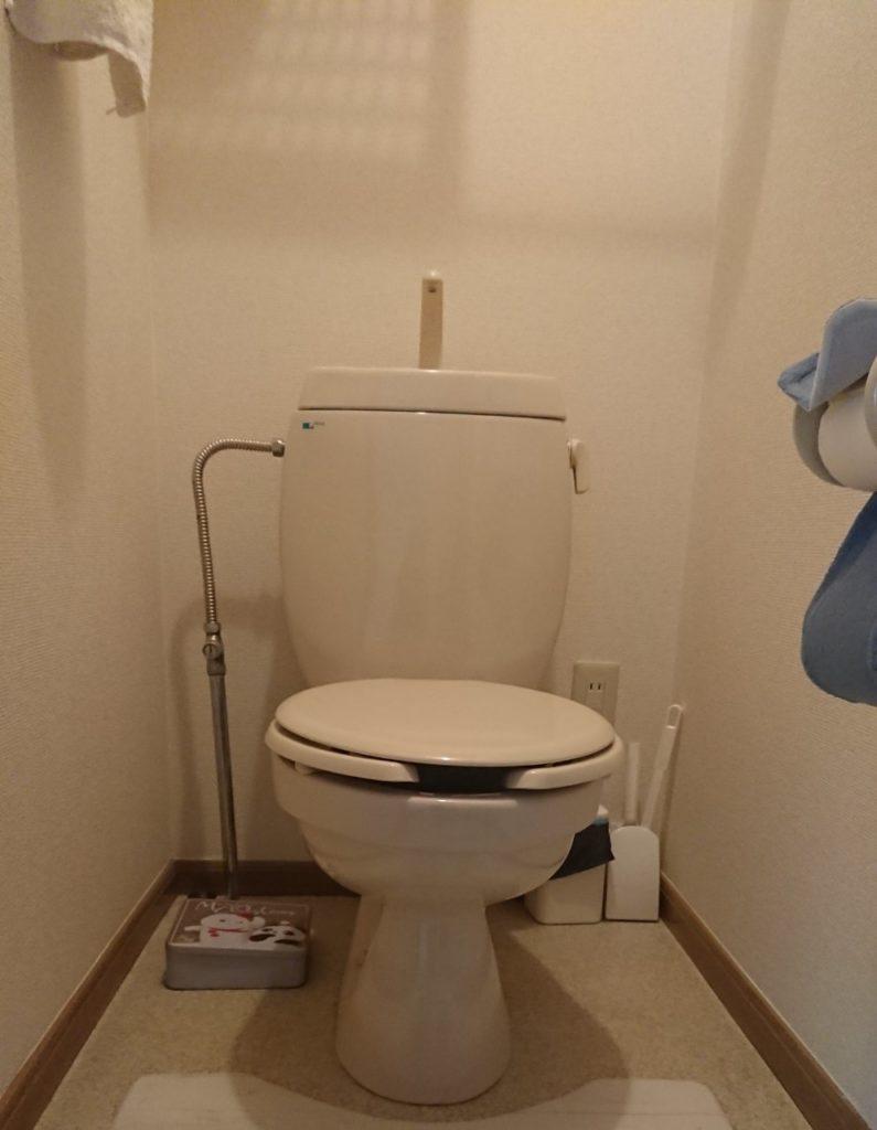 函館市でトイレ水漏れ修理を行いました。